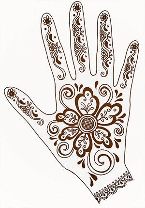 Henna Hand Design Colors Of Zanzibar