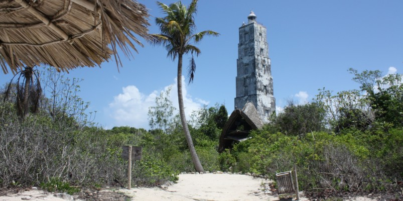 Chumbe Island also has an old light house
