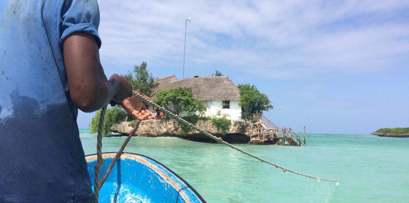 Zanzibar boat going to The Rock